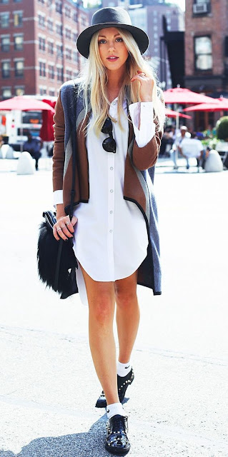 shirt dress street style