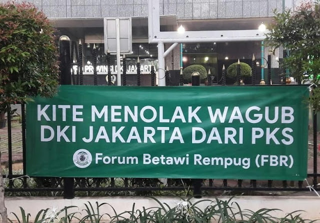Forum Betawi Rempug Tolak Wagub DKI dari PKS