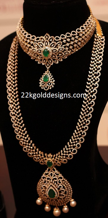 Indian Necklace and Haram in Diamonds
