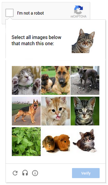 reCAPTCHA for comment moderation