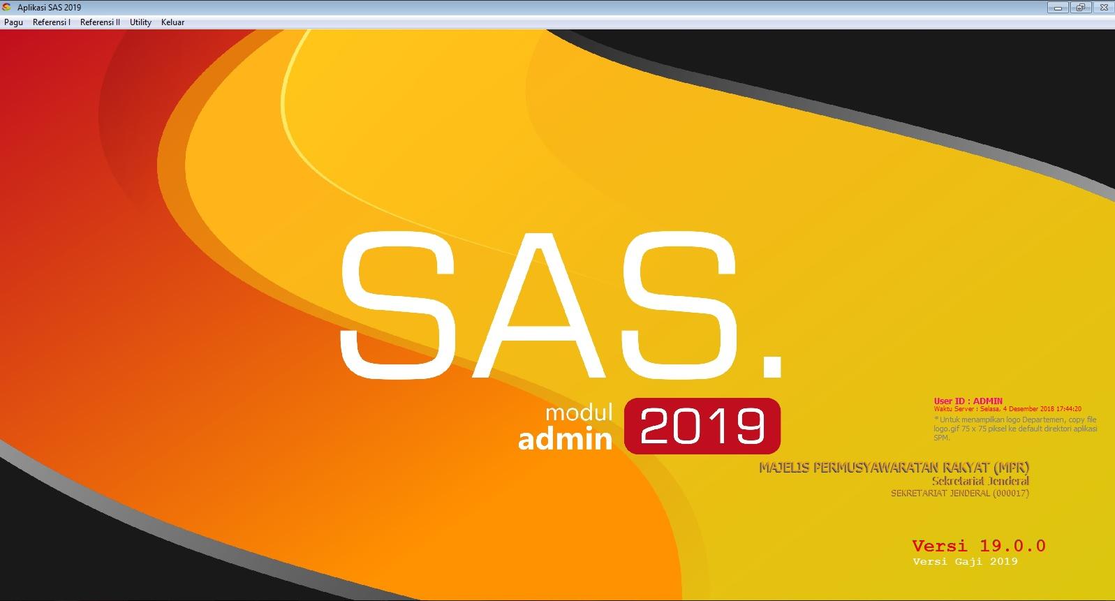 Sahabat Satker: Instalasi Aplikasi SAS 2019