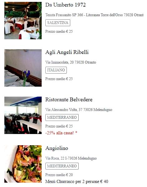 Migliori ristoranti di Otranto