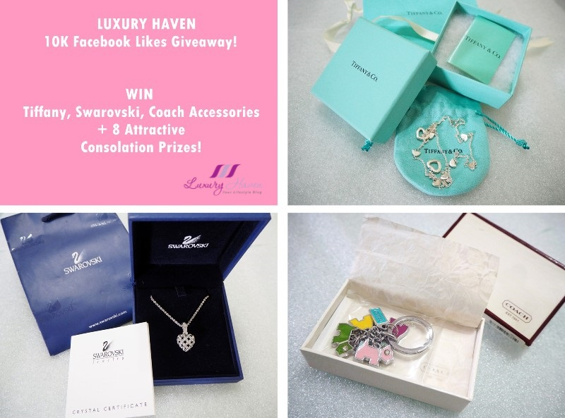 luxury haven 10k facebook likes giveaway tiffany swarovski