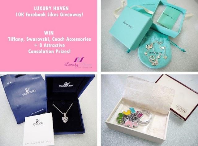 10K Facebook Likes Giveaway! Win Tiffany, Swarovski, Coach!