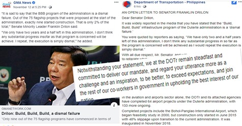 #Openletter updates Senator Drilon on BBB progress to enlighten & transform perception of dismal failure to true recognition of hard work DOTr have done | PTN