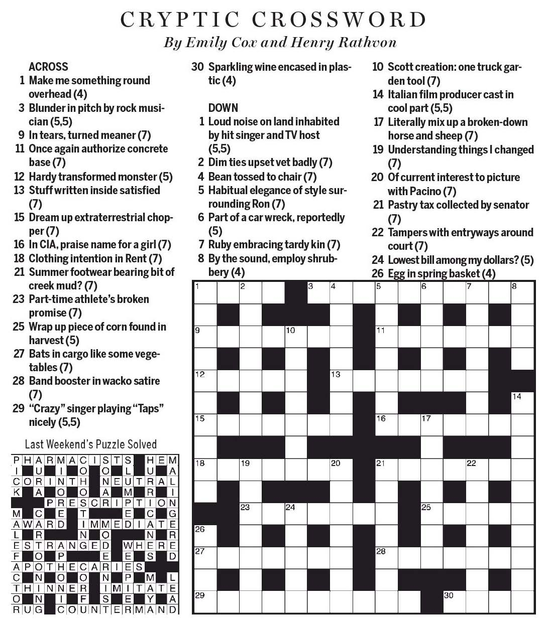 Introduction  sc 1 st  National Post Cryptic Crossword Forum & National Post Cryptic Crossword Forum: Saturday September 30 ...