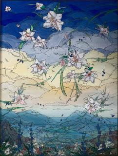 Эта картина писалась с помощью десятков тончайших цветных пленок, нанесенных друг на друга