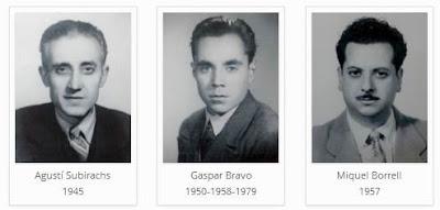Los ajedrecistas del Club d'Escacs Mataró Agustí Subirachs, Gaspar Bravo y Miquel Borrel