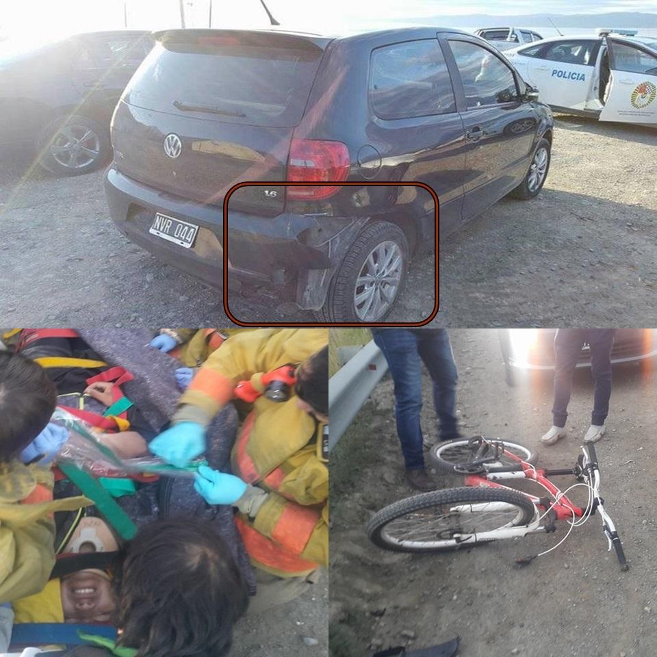 Atropello un ciclista y se dio a la fuga