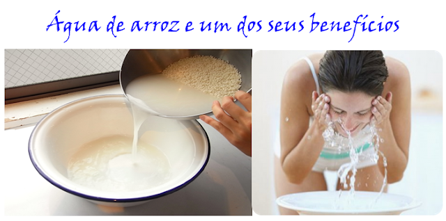 Água de arroz e benefícios