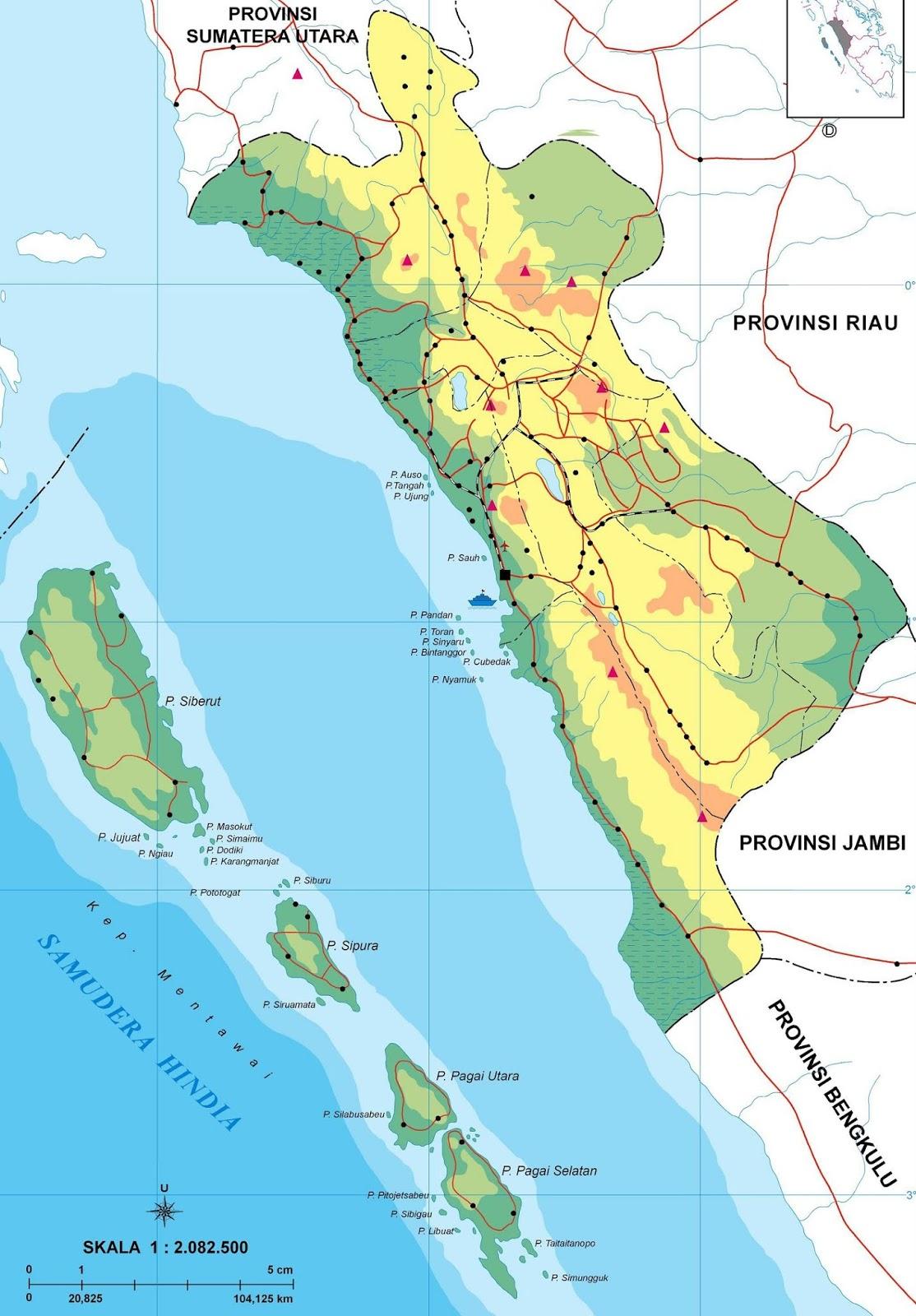 Peta Sumatera Barat HD