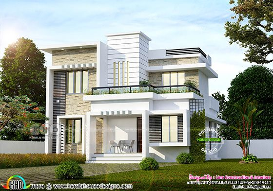 139 square yards 4 bedroom modern home in Kerala