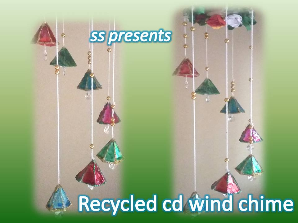 Cd hanging ssartscrafts for Decoration ideas from waste