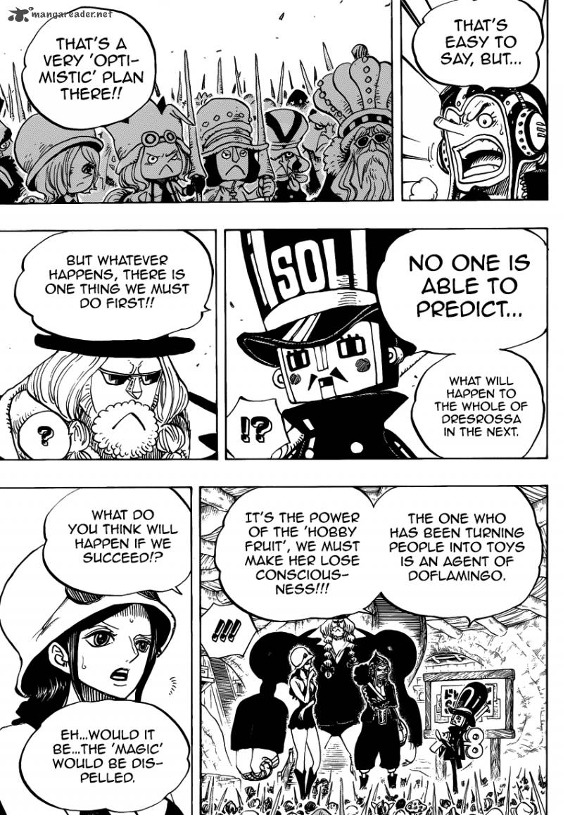 One Piece Ch 731: Dressrosa Operation SOP