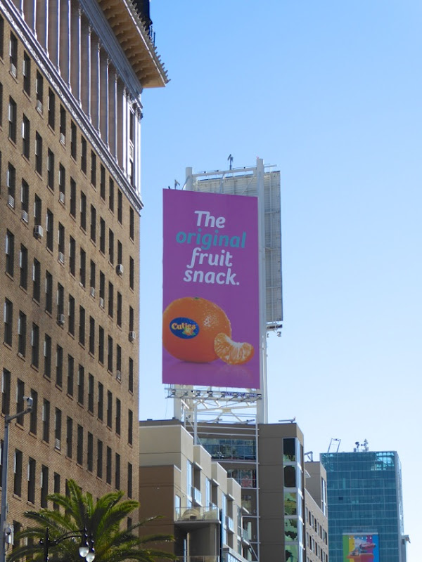 Cuties original fruit snack billboard Hollywood