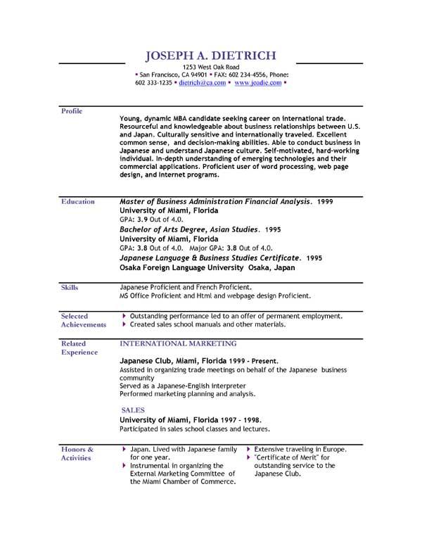Free Resume Template Downloads - dadakan - resume format google docs