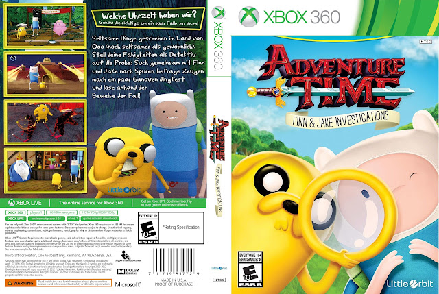 Capa xBox360 Adventure Time Finn & Jake Investigations