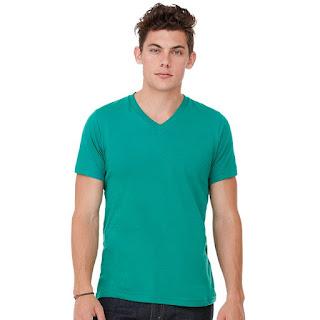 V-Neck T-shirt Pria