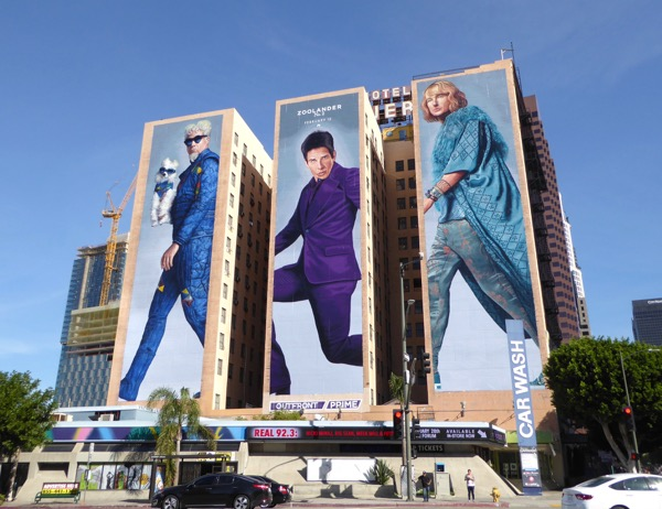 Giant Zoolander 2 movie billboard