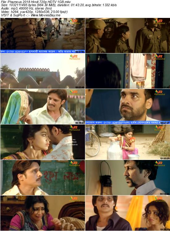 Phamous 2018 Hindi 720p HDTV 1GB worldfree4u