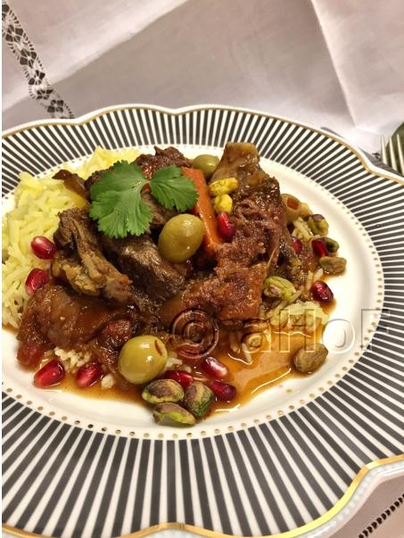 Fruity Moroccan Style Lamb