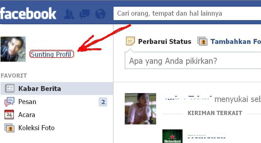 cara memasang atau membuat foto sampul facebook