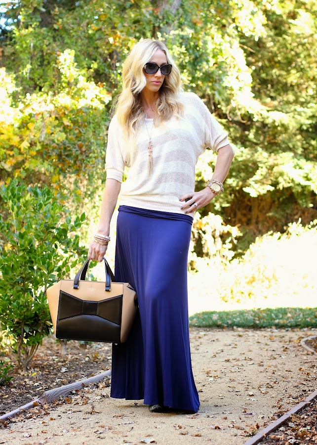 fall maxi and sweater