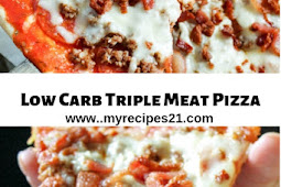 Low Carb Triple Meat Pizza