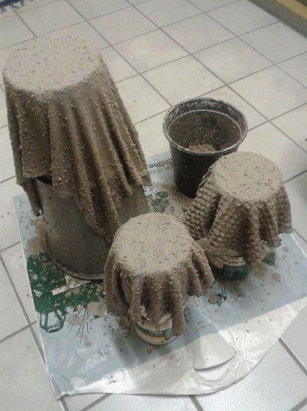 moldes para hacer macetas de cemento: como hacer macetas con
