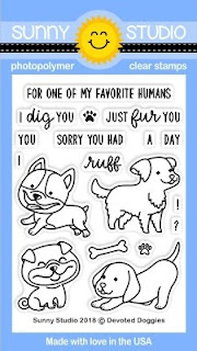 Sunny Studio Stamps: Devoted Doggies 3x4 Puppy Dog Clear Stamp Set