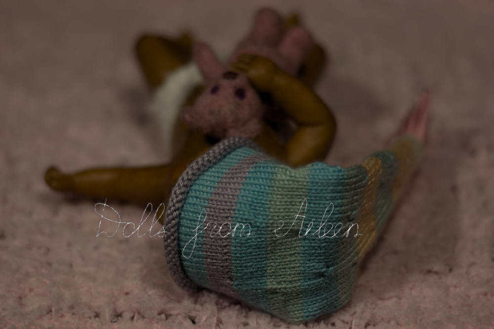 ooak mini baby girl doll