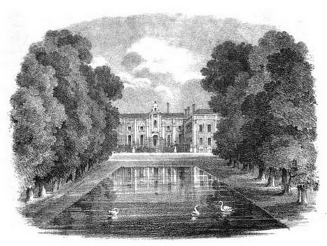Beddington Park from Select Illustrations of the County of Surrey by GF Prosser (1828)