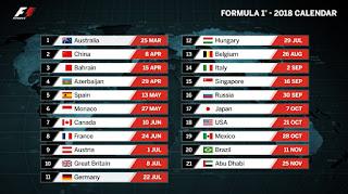 Calendario de Formula Uno 2018 F1. Calendario de Formula 1. Calendario y horarios Formula Uno 2018