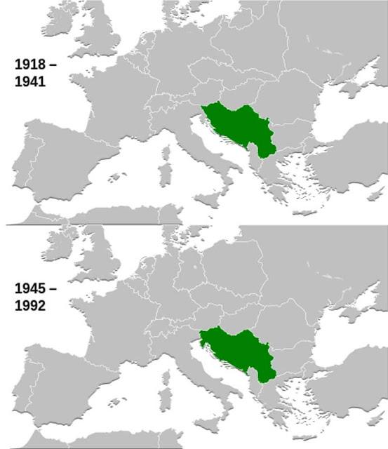 Gambar Peta letak Yugoslavia
