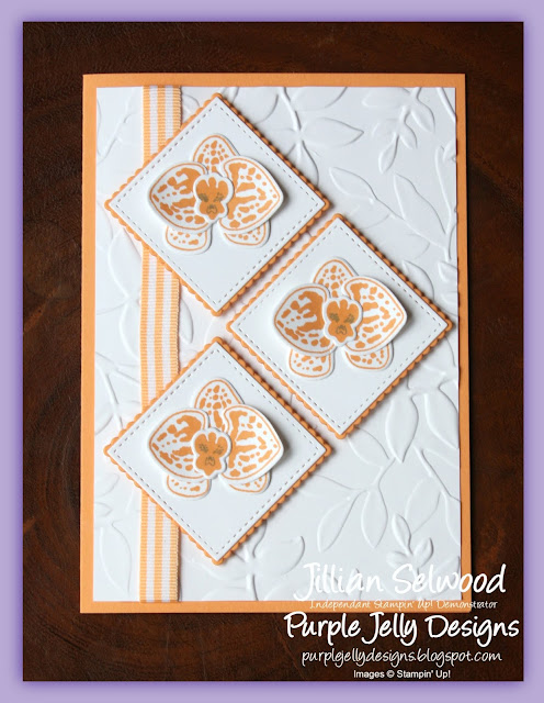 Climbing Orchid Stamp Set, Orchid Builder Framelits, Peekaboo Peach