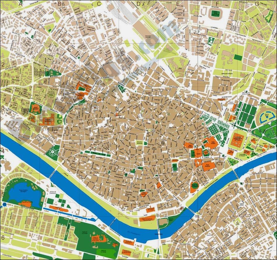 Callejero de Sevilla | Plano y mapa. Tráfico en directo