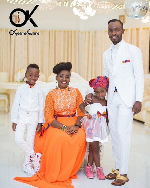 Okyeame Kwame shows off his beautiful family