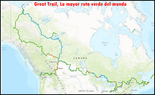 Great Trail, La mayor ruta verde del mundo