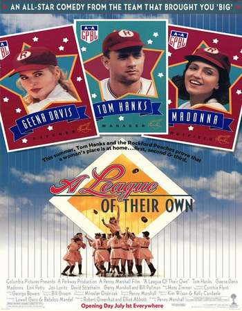 Poster Of A League of Their Own 1992 English 400MB BRRip 480p ESubs Watch Online Free Download downloadhub.net