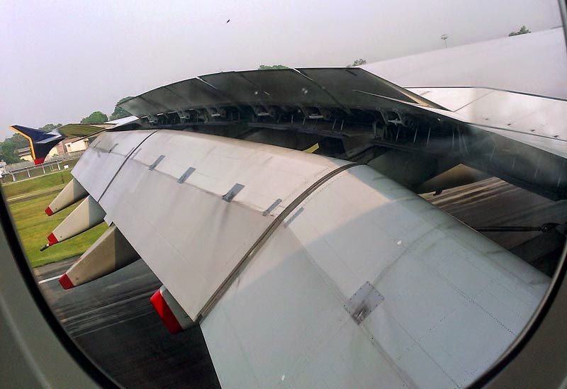 Wing of Airbus A380