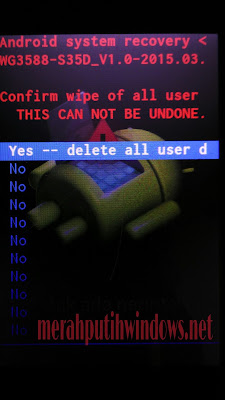 wipe all users data