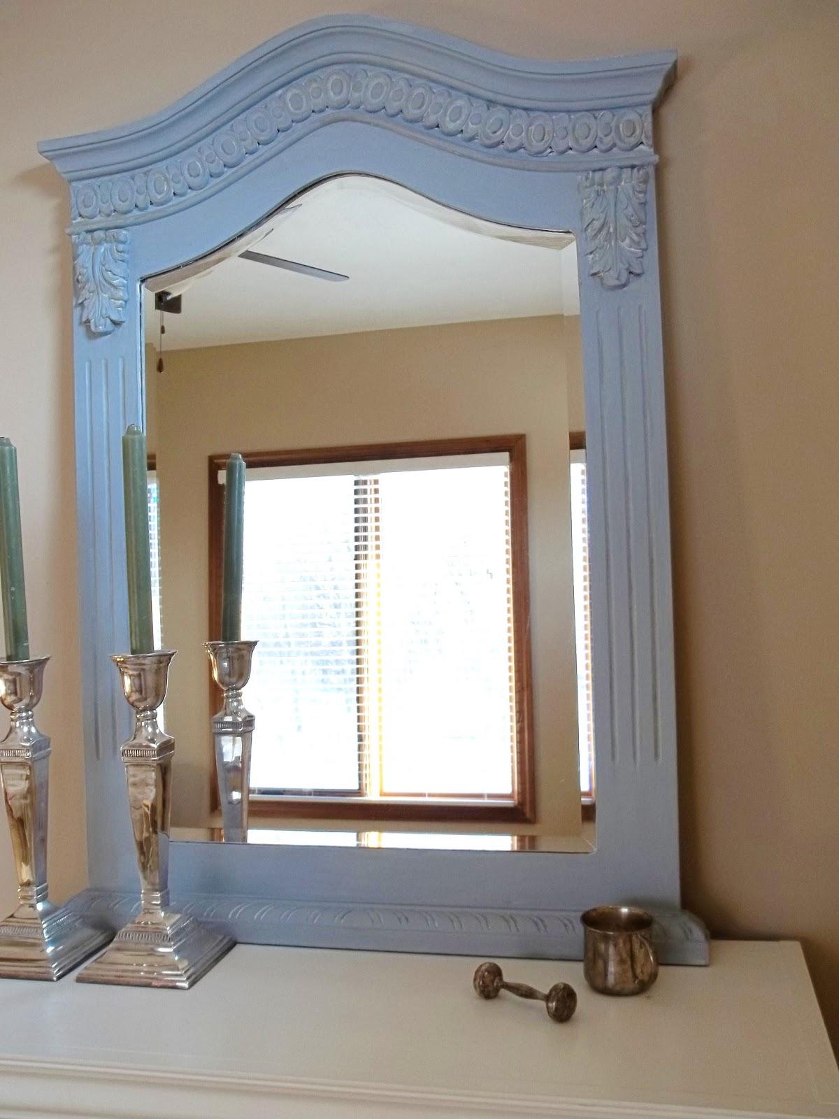 SimplyLinen: Painted Mirror-Girls Bedroom