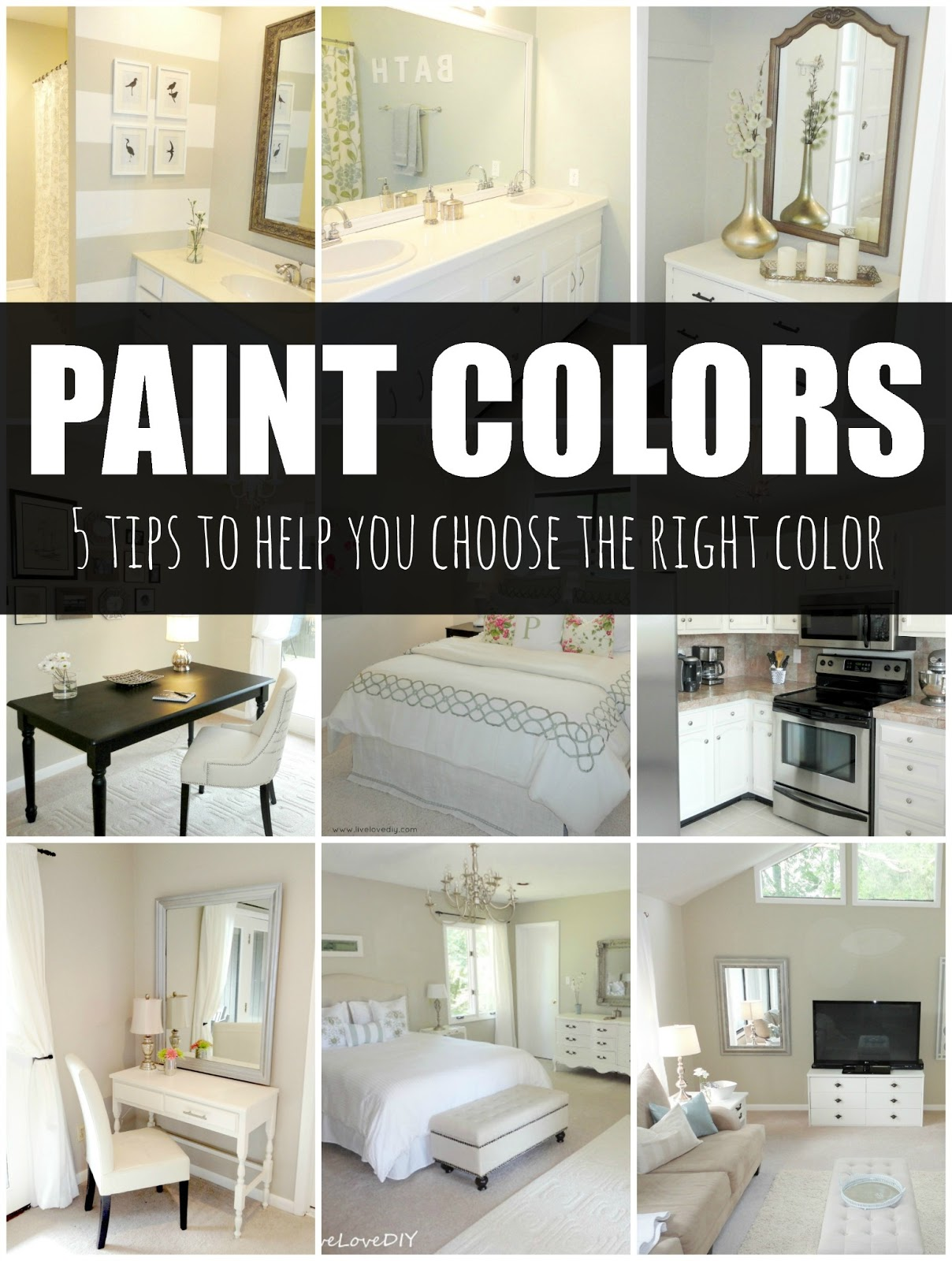 LiveLoveDIY  How To Choose Paint Colors  5 Tips To Help You Decide How to choose a paint color  5 tips to help you choose the right color