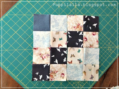 Puppilalla, Penny Patch Quilt, modern quilting