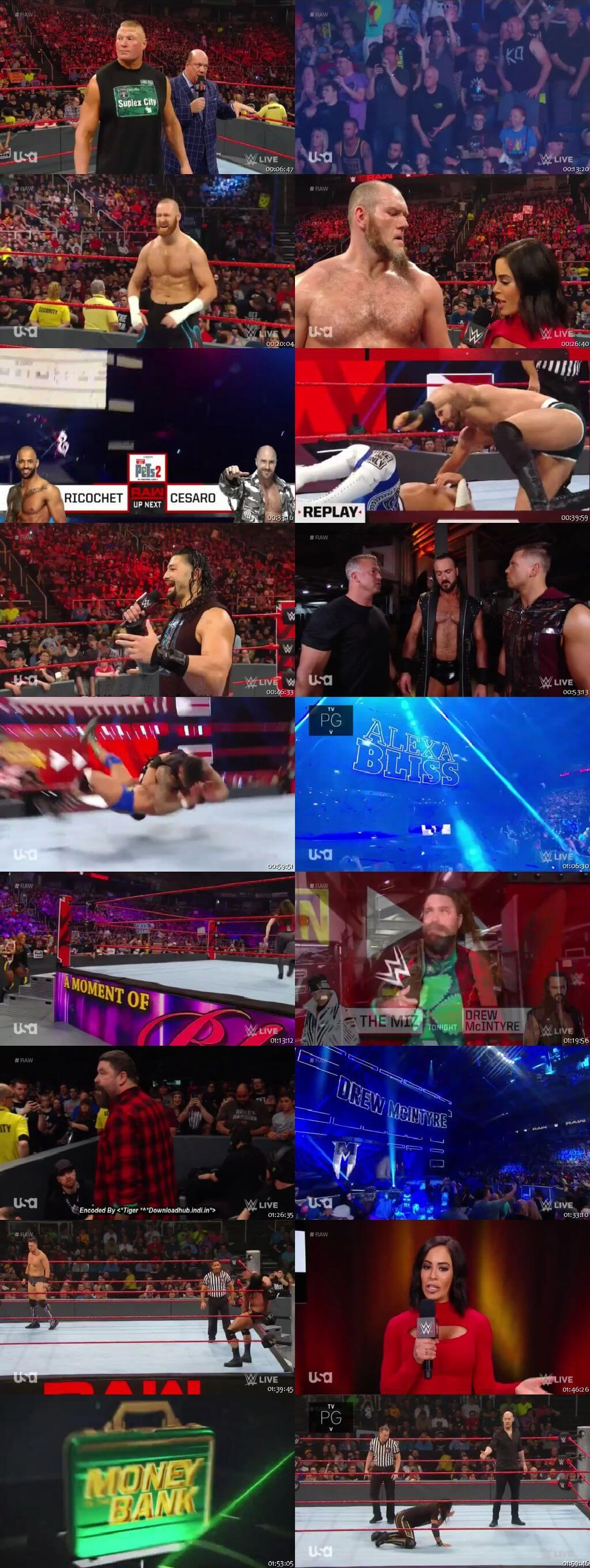 Screen Shot Of Wrestling TV Show WWE Monday Night Raw 20th May Watch Online Free Download