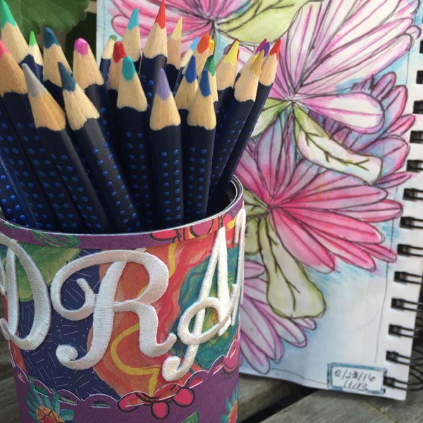 creating with joy pencil cup