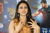 Rakul Preet Singh smiling Beautyin Brown Deep neck Sleeveless Gown at her interview 2.8.17 ~  Exclusive Celebrities Galleries 089.JPG