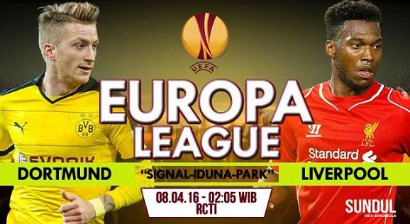 Perkiraan Borussia Dortmund vs Liverpool Jumat, 8 April 2016, jam 02. 05 WIB
