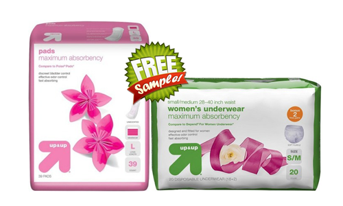 FREE Up & Up Adult Incontinence Solutions Sample Kit, FREE Sample Kit of Up & Up Adult Incontinence Solutions, Up & Up Adult Incontinence Solutions FREE Sample Kit, Up & Up Adult Incontinence Solutions, FREE up&up Women's Liner and pad Sample Kit, FREE Sample Kit of up&up Women's Liner and pad, up&up Women's Liner and pad FREE Sample Kit, up&up Women's Liner and pad, FREE up&up Women's PurseReady Underwear Sample Kit, up&up Women's PurseReady Underwear FREE Sample Kit, FREE Sample Kit of up&up Women's PurseReady Underwear, up&up Women's PurseReady Underwear