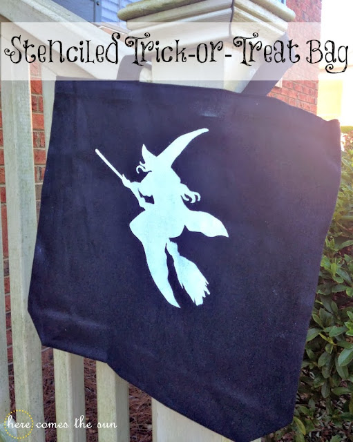 DIY Halloween Trick or Treat Bag via herecomesthesunblog.net